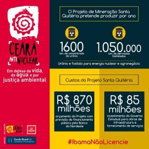Banner 1 - custos do Projeto Santa Quitéria