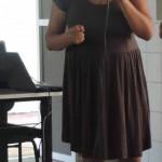 Lourdes Vicente (MST) apresenta os resultados de sua pesquisa de mestrado.