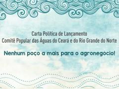 Carta política de lançamento do Comitê Popular das Águas CE/RN